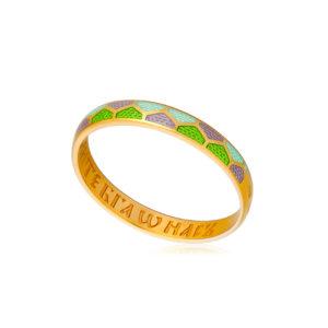 sedmicza zelenaya 300x300 - Кольцо из серебра «Седмица» (золочение), зеленое