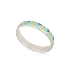6 32 3s 300x300 - Кольцо из серебра «Седмица», желто-голубое